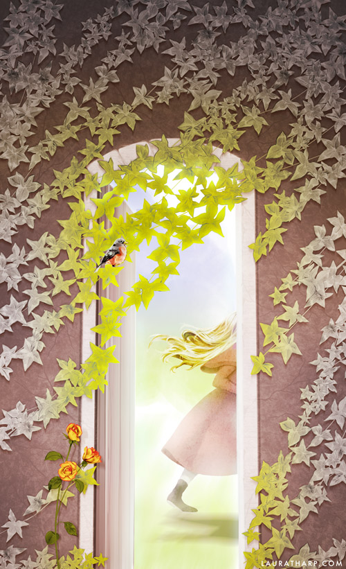 illustration for The Secret Garden book cover